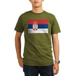 Serbia Organic Men's T-Shirt (dark)