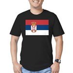 Serbia Men's Fitted T-Shirt (dark)