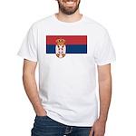 Serbia White T-Shirt