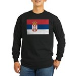 Serbia Long Sleeve Dark T-Shirt