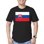 Slovakia Men's Fitted T-Shirt (dark)