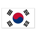 South Korea Sticker (Rectangle 10 pk)