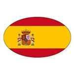 Spain Sticker (Oval 50 pk)