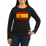 Spain Women's Long Sleeve Dark T-Shirt