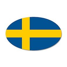 Sweden 38.5 x 24.5 Oval Wall Peel