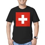 Switzerland Men's Fitted T-Shirt (dark)