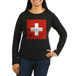 Switzerland Women's Long Sleeve Dark T-Shirt