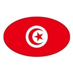 Tunisia Sticker (Oval 10 pk)
