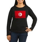 Tunisia Women's Long Sleeve Dark T-Shirt