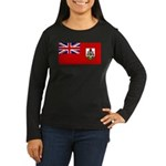 Bermuda Women's Long Sleeve Dark T-Shirt