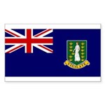 British Virgin Islands Sticker (Rectangle 50 pk)