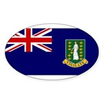 British Virgin Islands Sticker (Oval 50 pk)