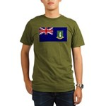 British Virgin Islands Organic Men's T-Shirt (dark
