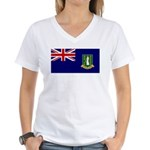 British Virgin Islands Women's V-Neck T-Shirt