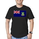 British Virgin Islands Men's Fitted T-Shirt (dark)