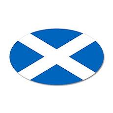 Scotland 38.5 x 24.5 Oval Wall Peel