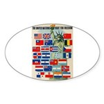 United Nations Fight For Free Sticker (Oval)