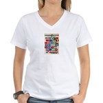 United Nations Fight For Free Women's V-Neck T-Shi
