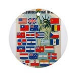 United Nations Fight For Free Ornament (Round)