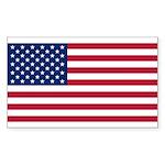 United States of America Sticker (Rectangle 50 pk)
