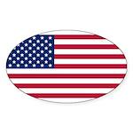 United States of America Sticker (Oval 50 pk)
