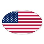 United States of America Sticker (Oval 10 pk)