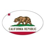 California Sticker (Oval 50 pk)