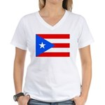 Puerto Rico Women's V-Neck T-Shirt