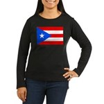 Puerto Rico Women's Long Sleeve Dark T-Shirt