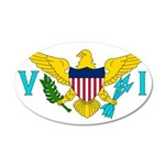 U.S. Virgin Islands 22x14 Oval Wall Peel
