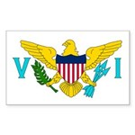 U.S. Virgin Islands Sticker (Rectangle 10 pk)