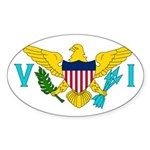 U.S. Virgin Islands Sticker (Oval 10 pk)