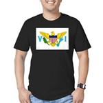 U.S. Virgin Islands Men's Fitted T-Shirt (dark)