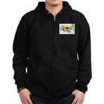 U.S. Virgin Islands Zip Hoodie (dark)