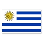 Uruguay Sticker (Rectangle 10 pk)
