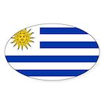 Uruguay Sticker (Oval 10 pk)
