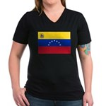 Venezuela Women's V-Neck Dark T-Shirt