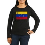 Venezuela Women's Long Sleeve Dark T-Shirt