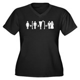 Marriage equation Women's Plus Size V-Neck Dark T-