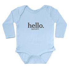 Hello I'm puffy Long Sleeve Infant Bodysuit