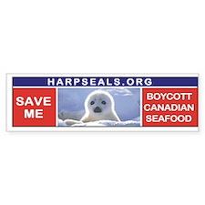 Save the seals Bumper Bumper Sticker