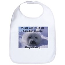 Please don't feed me Canadian seafood Bib