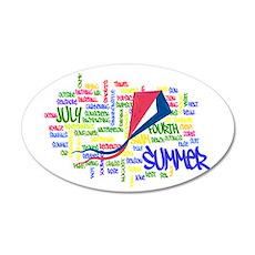 Summer Words 22x14 Oval Wall Peel