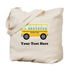 School Bus Personalized Tote Bag