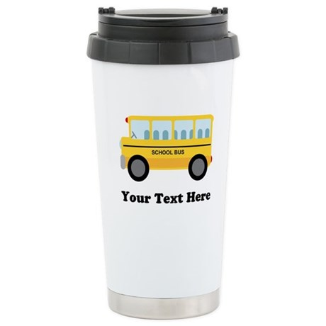 School Bus Personalized Ceramic Travel Mug