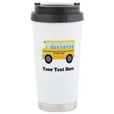 School Bus Personalized Travel Mug