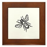 Honey Bee Framed Tile
