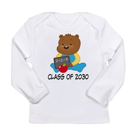 Cute Scholar Bear Class of 2030 Long Sleeve Infant