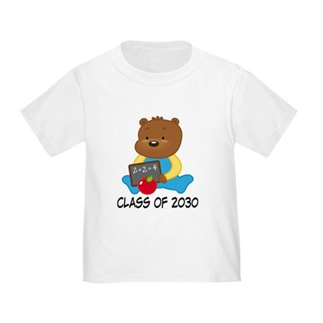 Cute Scholar Bear Class of 2030 Toddler T-Shirt