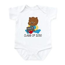 Cute Scholar Bear Class of 2030 Infant Bodysuit